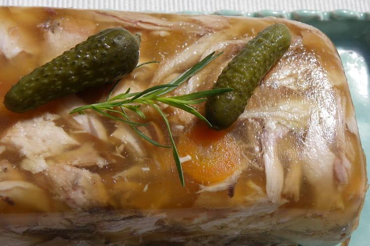 Terrine de poulet en gelée de muscat