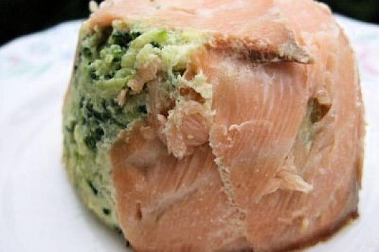 Timbales de saumon aux courgettes