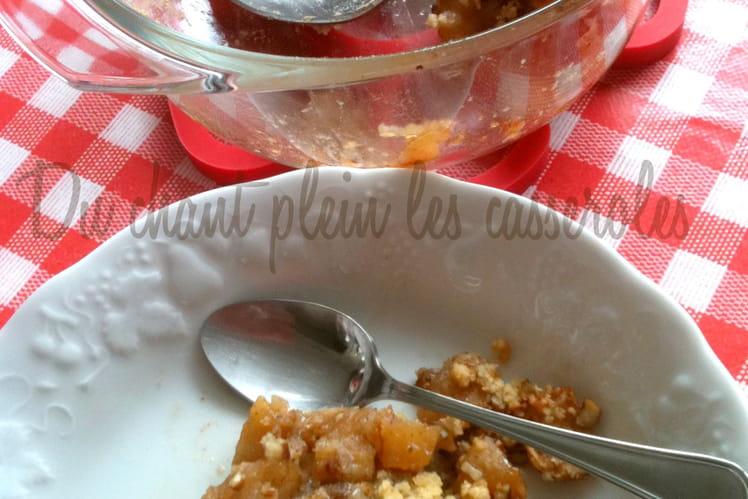 Crumble pommes-pécan