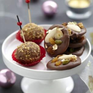 sucettes chocolat noir praliné
