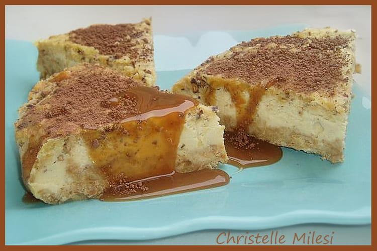 Cheesecake au Bailey's et son caramel