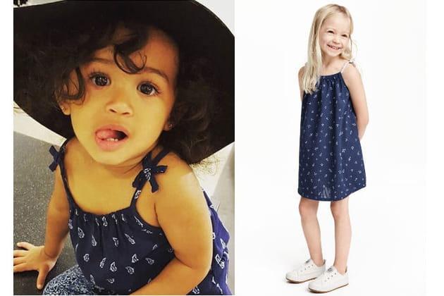 Une robe imprimée pour la fille de Chris Brown