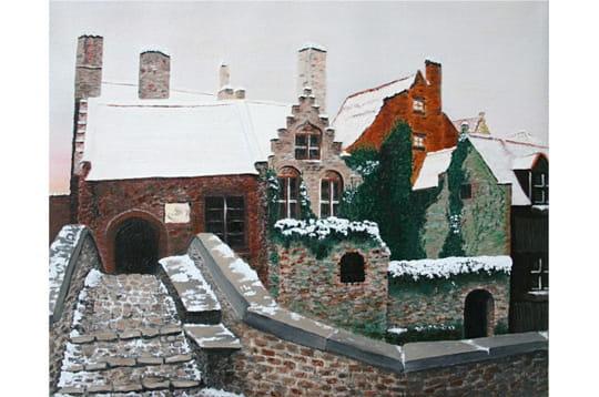 Bruges sous la neige