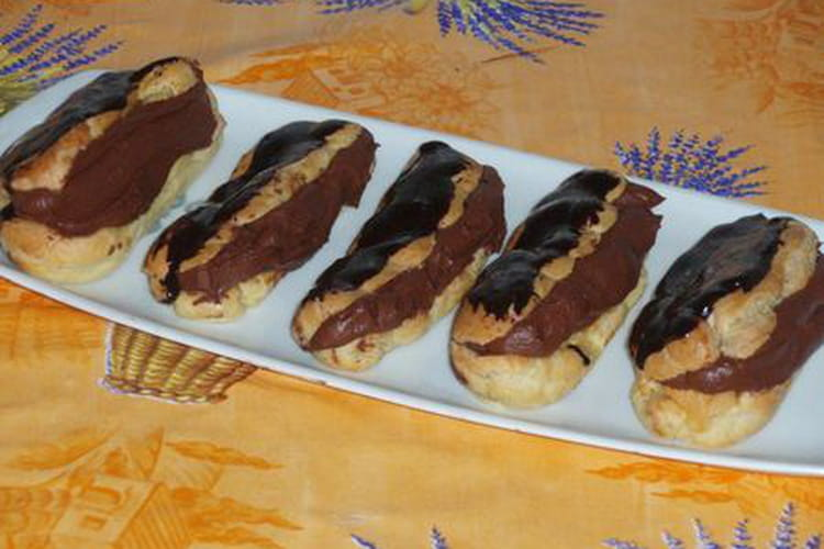 Eclairs gourmands au chocolat