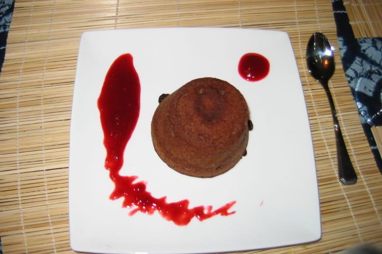 Moelleux au chocolat coeur coulant framboises