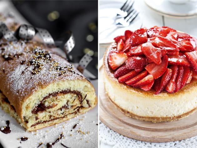 Bûche pâtissière ou cheese-cake ?