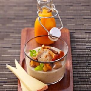 crème de champignon, appenzeller et velouté de potiron