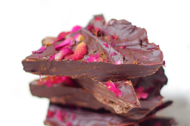 Chocolat maison en fleurs