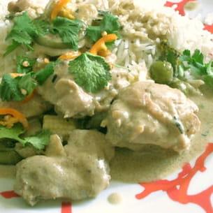 curry vert de poulet