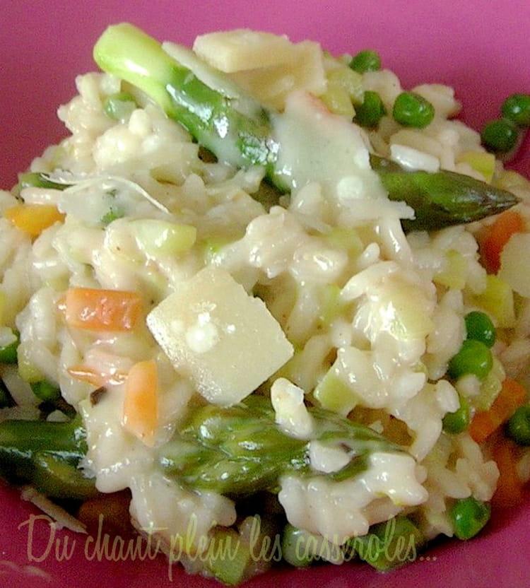 Risotto aux asperges vertes et au parmesan - Cuisiner des asperges fraiches ...