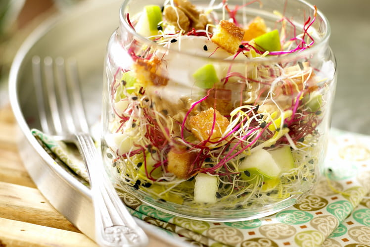 Salade bio sucrée-salée