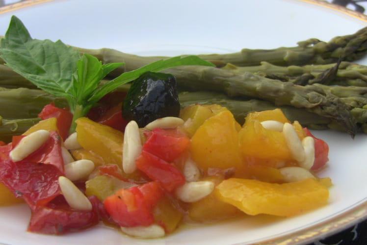Salade d'asperges et de poivrons