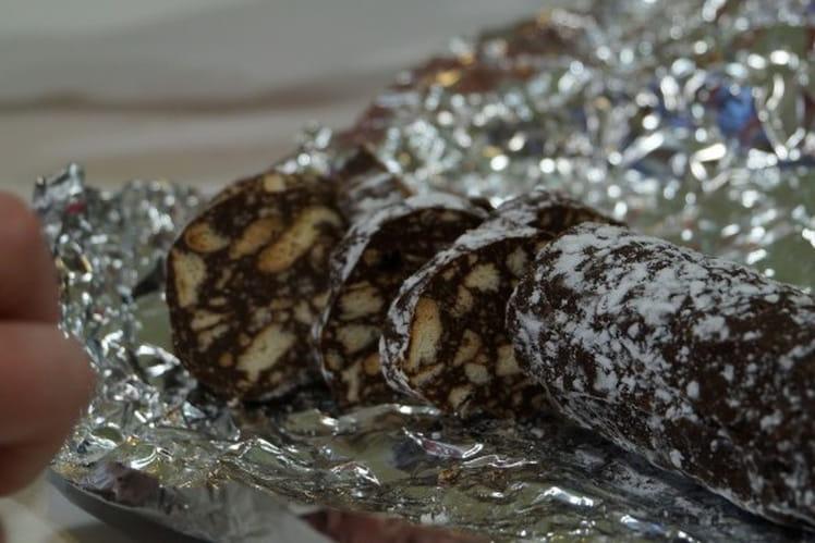 Saucisson au chocolat pour Noël