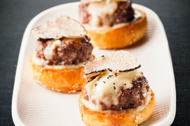 Mini burger à la truffe