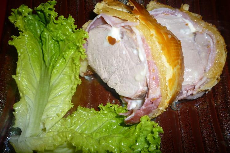 Feuilleté de filet mignon de porc au Saint Marcelin