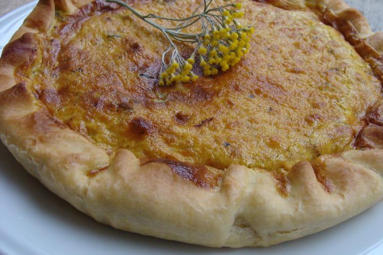 Tarte courgette lardon curry