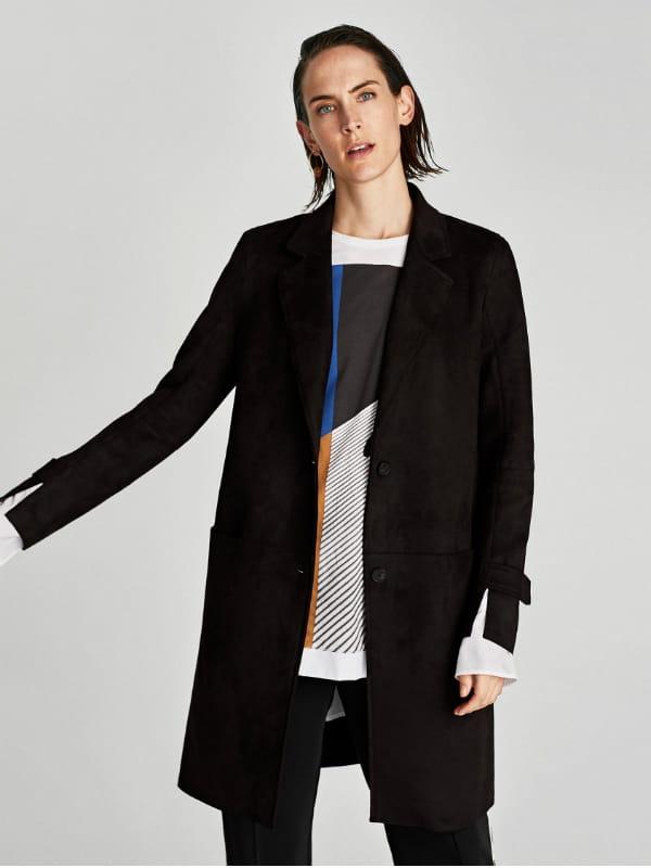 daim effet Zara de Manteau effet effet Zara daim de de Manteau daim Manteau H2YDIeWE9