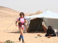 isabelle traeger pendant le marathon des sables