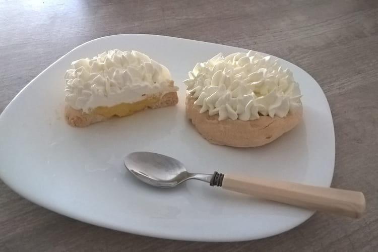 Pavlova façon tarte citron meringuée