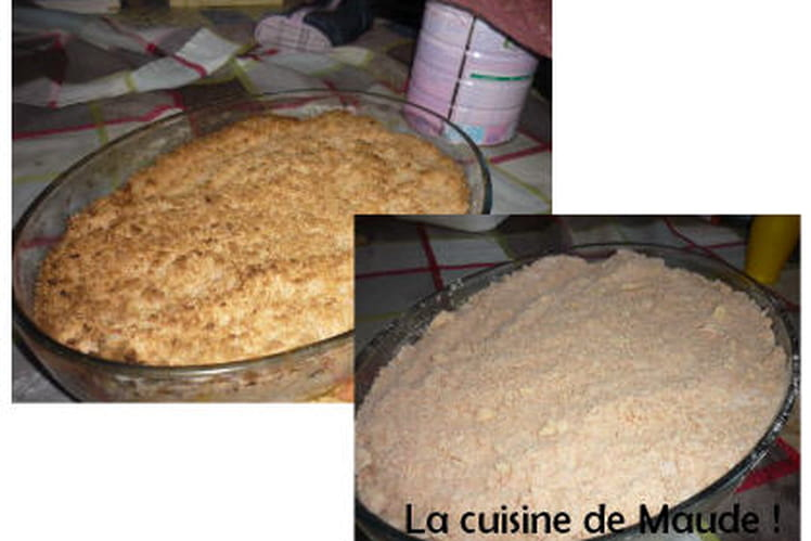 Crumble au Biscuit Rose