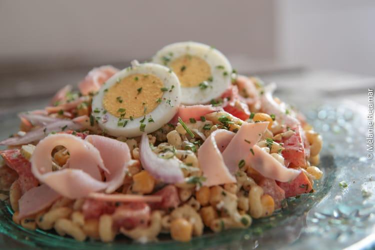 Salades de pâtes, sauce au poivre