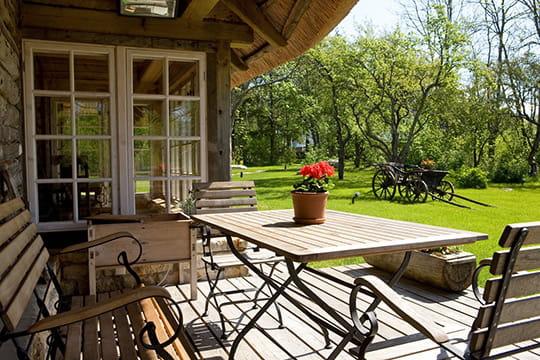 Terrasse bucolique