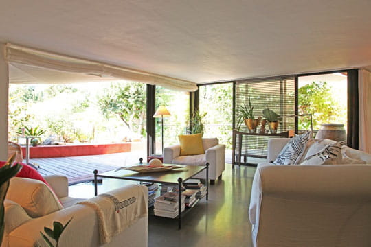 Un salon (presque) en terrasse
