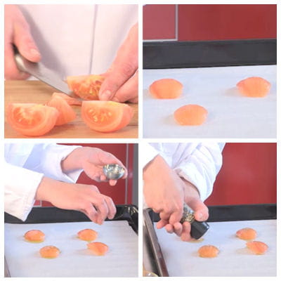 préparer les tomates confites