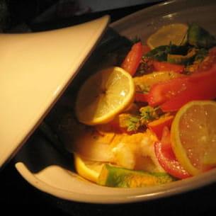 tagine de poisson et crevettes