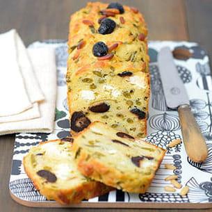 Cake Pignons Feta Olives