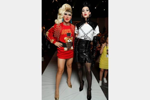 Jodie Harsh et Violet Chachki au défilé Moschino