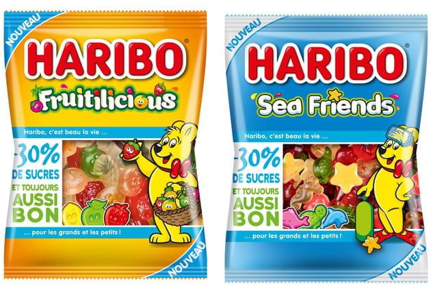 Les bonbons avec -30% de sucres de Haribo