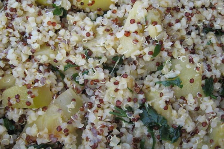 Courgettes au quinoa