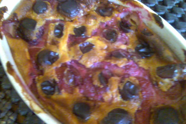 Clafoutis rustique aux prunes