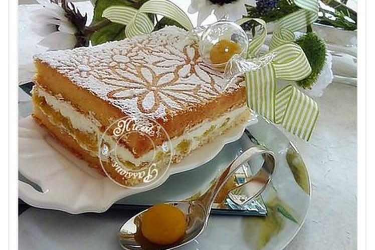 Gâteau lorrain aux mirabelles et mascarpone