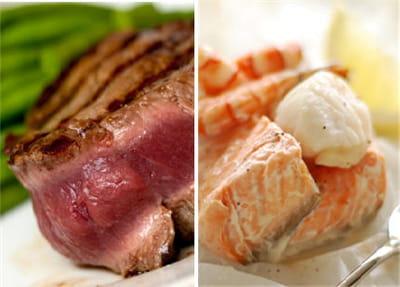 plutôt viande rouge ou saumon en papillote ?