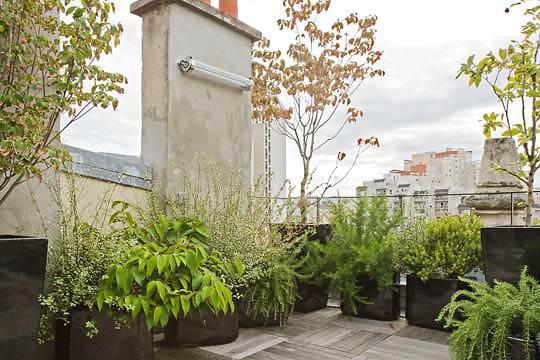 Une terrasse également aménagée