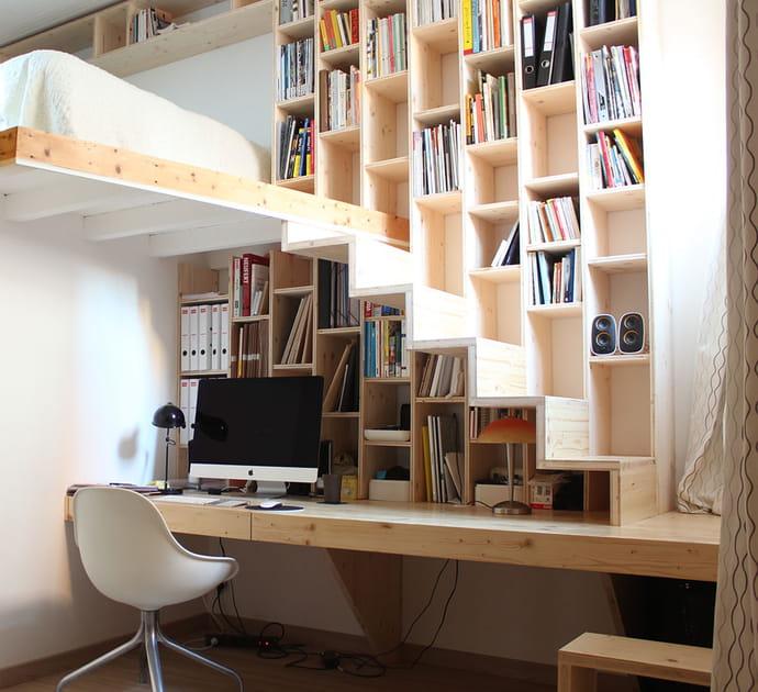 10idées repérées sur Pinterest pour inviter le bureau sous l'escalier