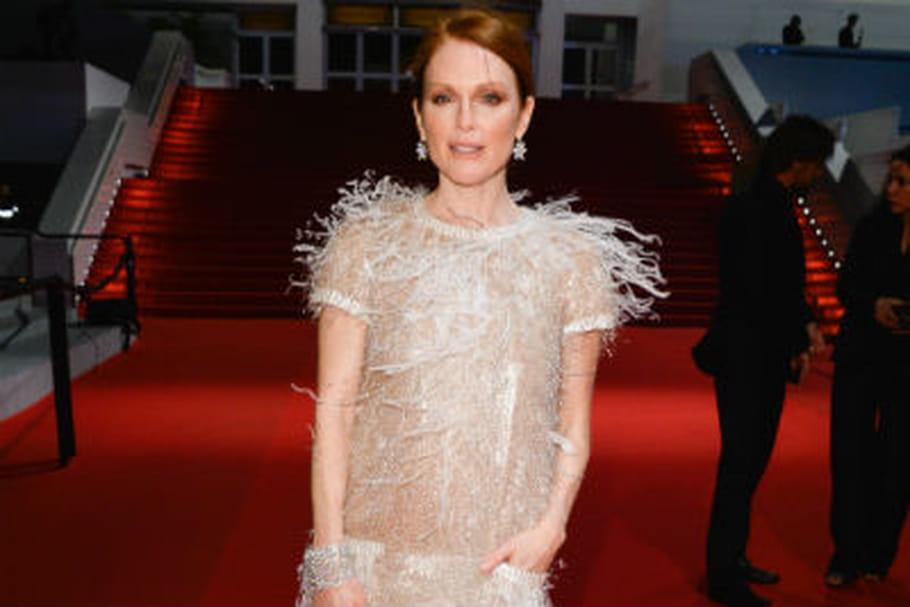 Le look people du jour spécial Cannes 2014: Julianne Moore, scintillante