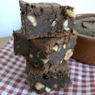 brownies aux cacahuètes et à la crème de marron
