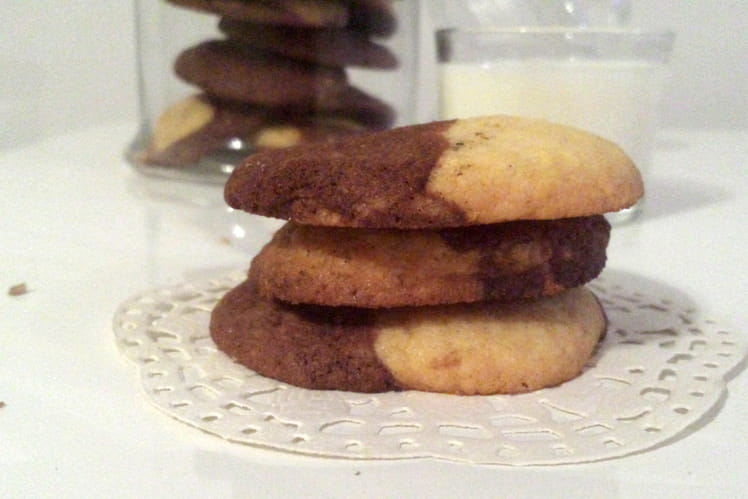 Cookies bicolores vanille et chocolat