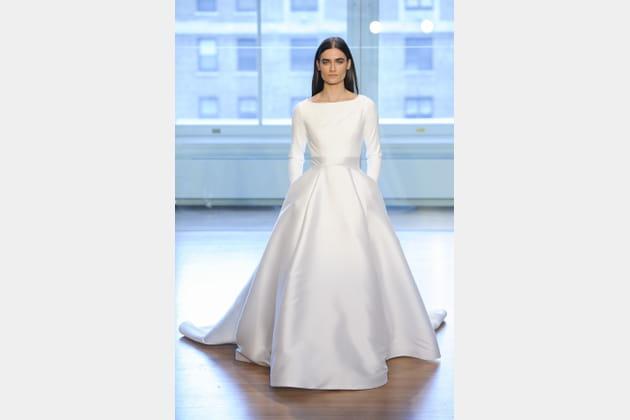 Robe de mariée manches longues, Justin Alexander