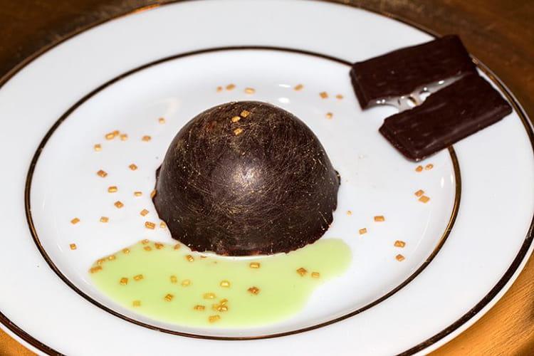 Dômes menthe-chocolat façon After Eight