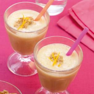 milk shake aux céréales, orange et gingembre
