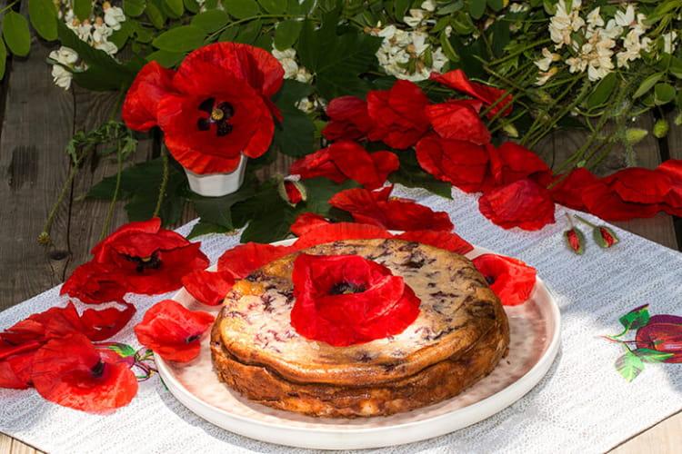 Coquelicake, cheesecake aux coquelicots