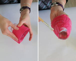 coller du papier sur le verre