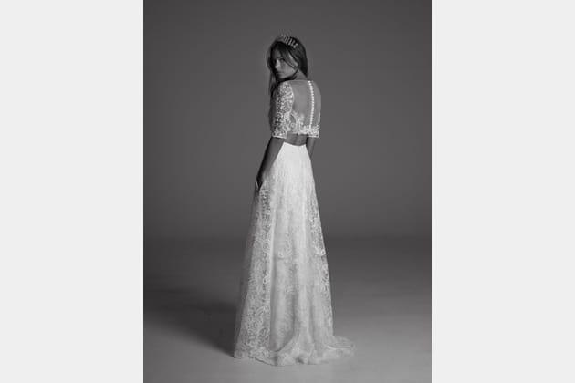 Robe de mariée Cora et Phoebe, de dos
