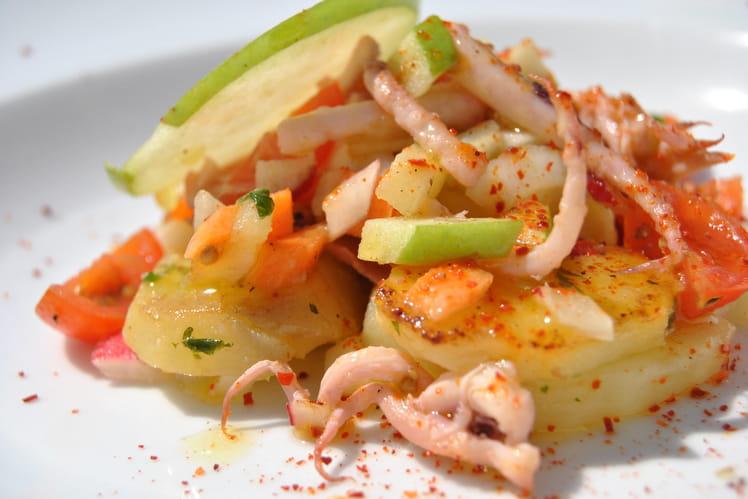 Salade de pommes de terre aux encornets
