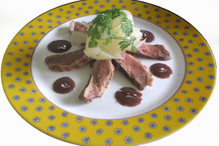 Magret de canard aux tagliatelles de radis