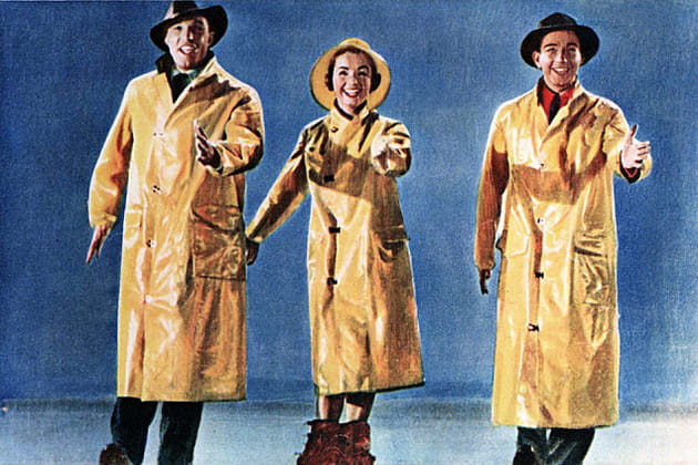 """Avec Gene Kelly et Donald O'Connor dans """"Chantons sous la pluie"""""""